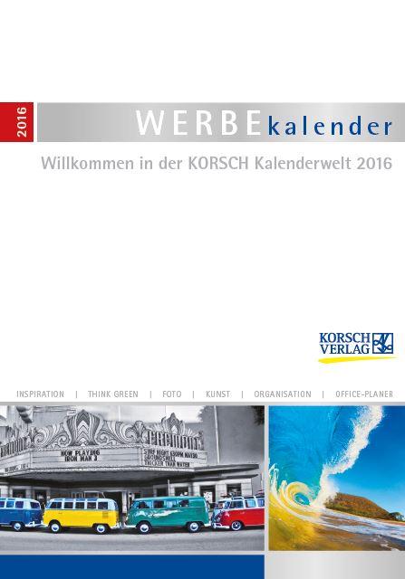 KORSCH Werbekalender Katalog