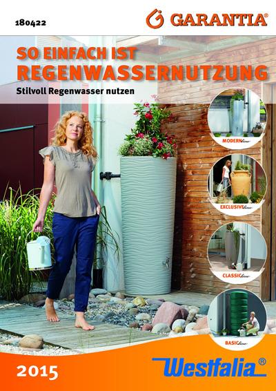 Westfalia Katalog zum Thema Regenwassernutzung