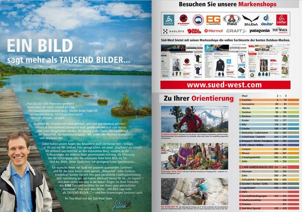 Outdoor katalog kostenlos bestellen s d west versand for Aquarium katalog kostenlos bestellen