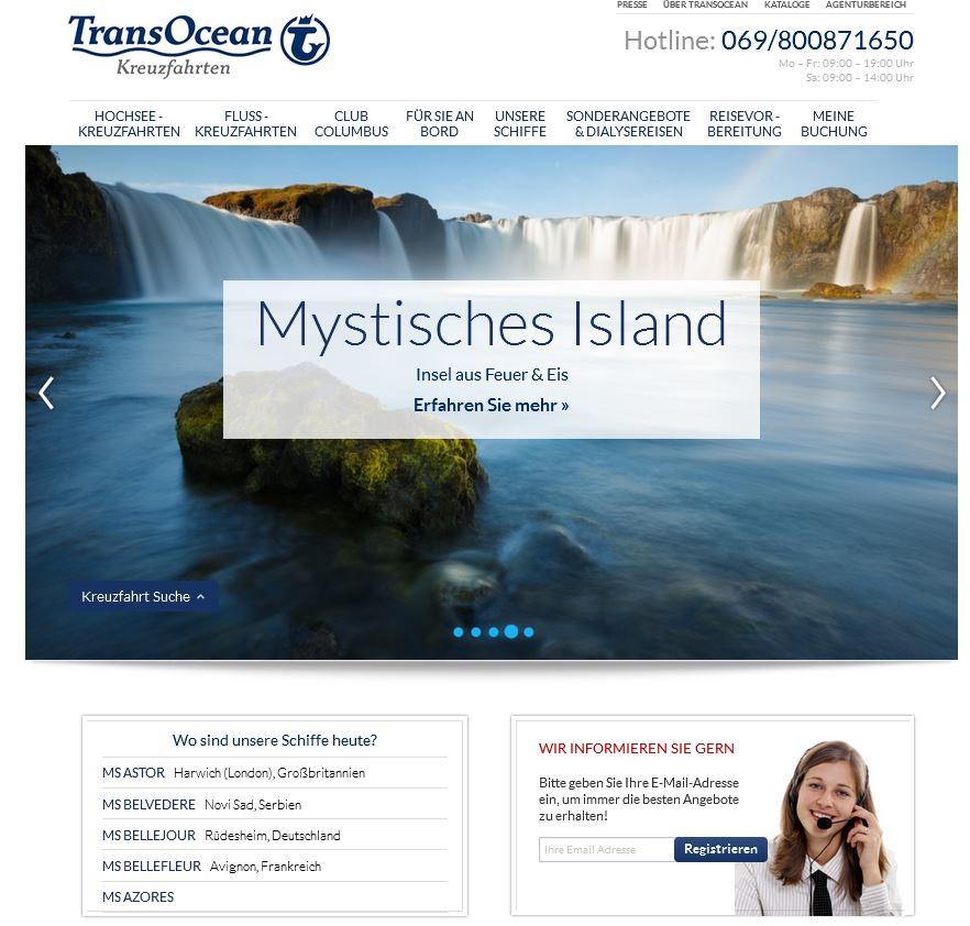 Kreuzfahrten Kataloge Bestellen Von Transocean Kreuzfahrten