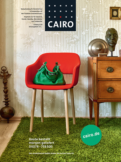 cairo design katalog titel mit designstuhl