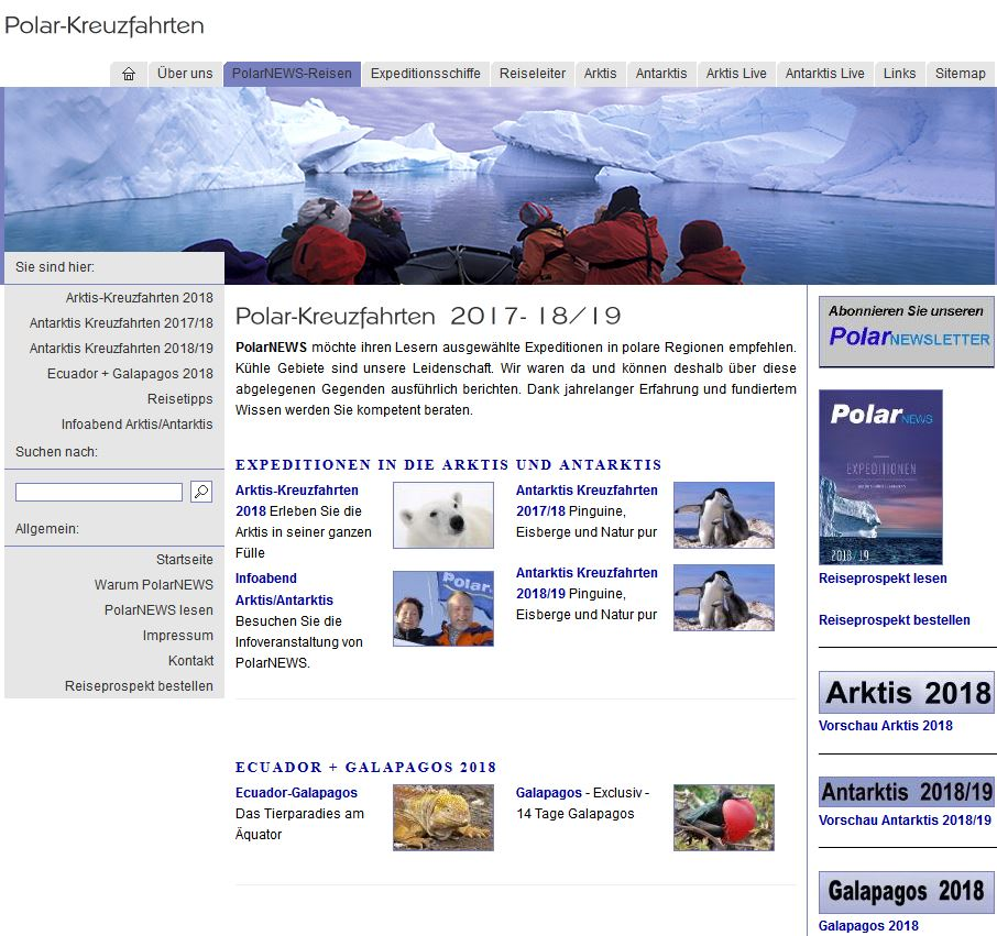 polar kreuzfahrten kataloge von polarnews kostenlose. Black Bedroom Furniture Sets. Home Design Ideas