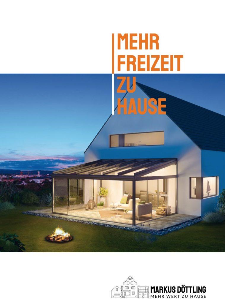 Haus mit Garten und Terrassendach