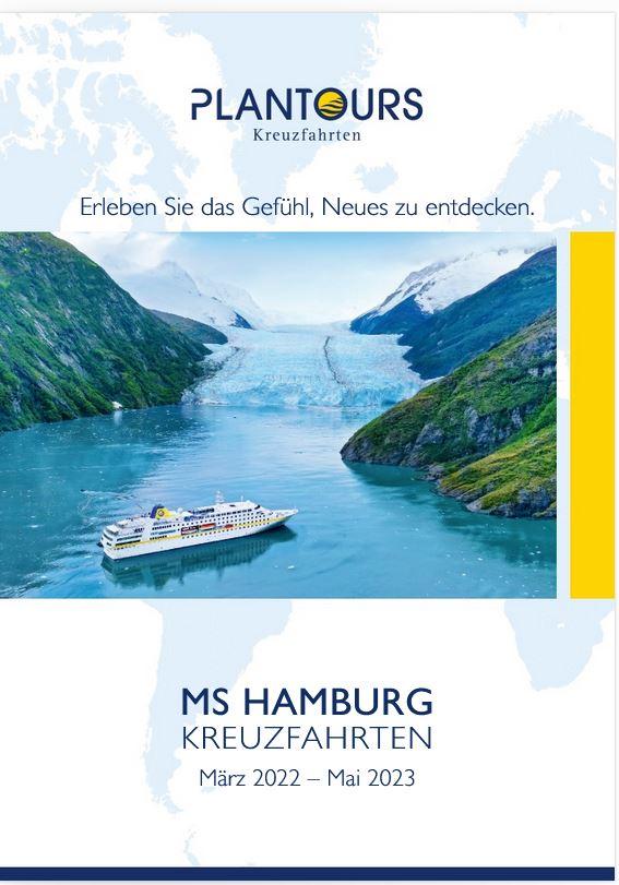Kreuzfahrten Kataloge 2022 2023 kostenlos bestellen MS Hamburg