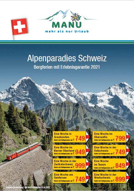 Schweiz Erlebnisurlaub Katalog 2021