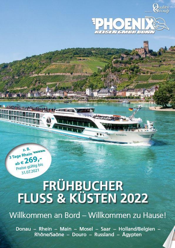 Flusskreuzfahrten Kataloge 2022 kostenlos bestellen